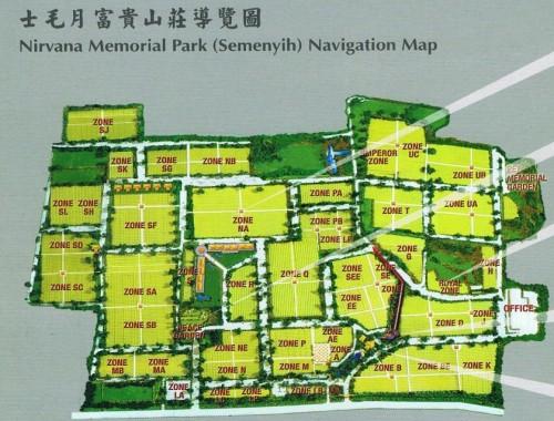 Nirvana Memorial Park Map